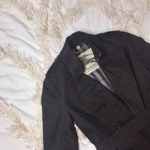 BURBERRY Classic Black Double Breasted Trench 💕💕